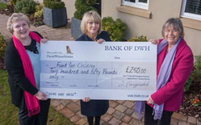 David Wilson helps to raise money for children's charity