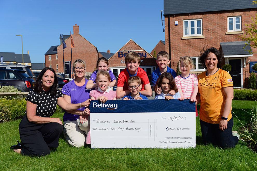 Bellway donates £250 towards new parkrun